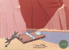Wile E Coyote Looney Tunes Chuck Jones Signed 1994 Production Animation Cel