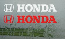 2x Honda Logo Car Vinyl Decal Sticker Civic Accord Jazz legend 200mm x 30mm