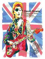 David Bowie Ziggy Stardust Space Oddity Glam Rock Poster Print Wall Art 8.5x11