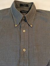 Nautica Mens Button-Front Long Sleeve Shirt...Size Small...Green Plaid
