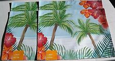 "SUMMER PLACEMAT'S 13"" X 18"" PALM SCENE Set of 4"