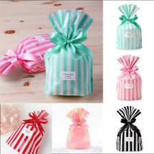 50Pcs Stripe Cello Bags Candy Food Packaging Bag Wedding Decoration Gift Wrapper
