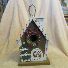 Bird House Christmas Bird House Candy Cane House Hanging Bird House Wooden