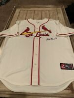 Stan Musial Autographed/Signed Jersey St. Louis Cardinals HOF