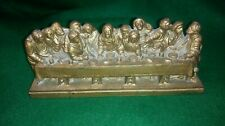 Vintage Last Supper Sculpture stamped  A. Giannetti  in Gold colour Finish