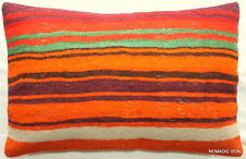 (40*60cm, 16*24cm) Textured handmade pillow cover Tribal lines multicoloured