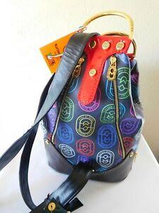 New MARINO ORLANDI Italy Logo XLarge Sling Bag, Backpack - Multi