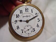 Beautiful 18S 24J Illinois Bunn Special RR Pocket Watch DEER ENGRAVED ON BACK