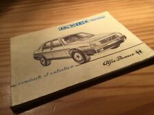 Alfa Romeo 90 2.5 manual driver lhd notebook booklet car user