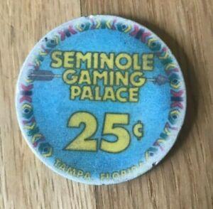 Tampa Florida FL Seminole Gaming Palace 25C 25 Cents Casino Chip Token