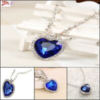 Heart of The Ocean Necklace Titanic Movie Sapphire Crystal Royal Blue Best Gift