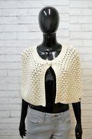 GUESS Mantella Maglione Cardigan Donna Taglia Unica Sweater Pullover Beige Lino