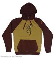 Mens NWT Browning Conner Sweatshirt Buckmark Hoodie Mossy Oak Camo Khaki S-2XL