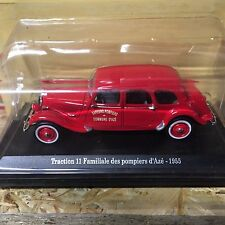 "DIE CAST "" TRACTION 11 FAMILIALE DES POMPIERS D'AZE "" CITROEN ATLAS  SCALA 1/43"