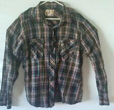 Vintage Ocean Pacific Flannel Button Front Shirt Plaid Men's Size Large