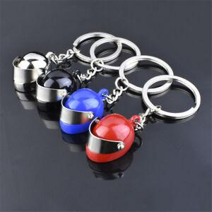 Creative Motorcycle Bicycle Helmet Key Ring Chain Keychain Keyring Fob Kids Gift