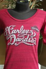 Harley-Davidson Ladies's V Twin Pride Medium 3/4 SleeveT-Shirt