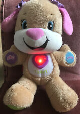 Laugh and Learn Smart Stages Interactive Puppy Pink Teddy Dog Toy Fisher Price
