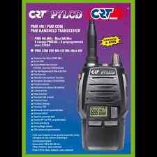 RADIO PMR 446 CRT P7 LCD Handset FREE Microphone Walkie Talkie FM PREPROGRAMMED