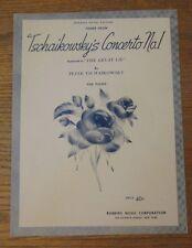 Tschaikowsky's Concerto No 1 Sheet Music 1941 Robbins Music Corp.