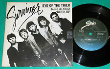 """Survivor - Eye of the tiger BRAZIL ONLY COVER 7"""" SINGLE PS 1982"""