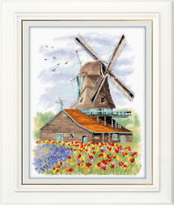 "Counted Cross Stitch Kit OVEN 1105 - ""Windmill. Holland"""