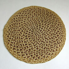 Vintage Antique? ROUND BRAIDED WICKER DOLLHOUSE RUG Artisan Handmade Doll Carpet