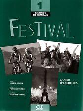 CLE Int'l FESTIVAL 1 Methode de Francais CAHIER D'EXERCICES + CD @NEW@ French