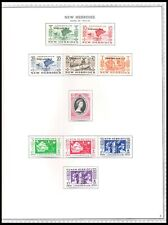 NEW HEBRIDES 1953-56 ISSUES ON PAGE (LHM) *CLEAN & FRESH*