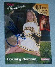 Christy Hemme Signed 2009 TriStar TNA Card #53 Impact Wrestling WWE Diva Auto'd