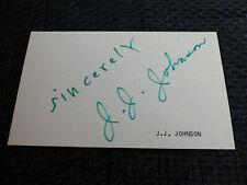 J.J. JOHNSON signed 3x5 inch Paper JAZZ autograph InPerson LOOK