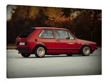 Volkswagen Golf MK1 Gti 30x20 Inch Canvas - VW Framed Picture Wall Art