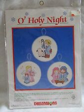 Dimensions O Holy Night  counted cross stitch ornament kit #8353
