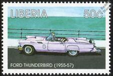 1955-1957 FORD THUNDERBIRD / T-BIRD Mint Automobile Car Stamp (1998 Liberia)
