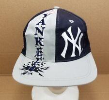 Vintage Logo 7 New York Yankees Snapback Hat Navy Blue Gray Baseball Cap MLB