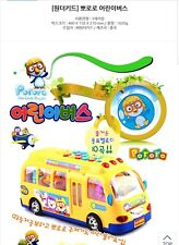 US SELLER Pororo & Friends Melody School bus Figures Sound Toy NEW