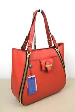 Gilda Tonelli 1616 Red Leather Tote Bag 100% Made in Italy
