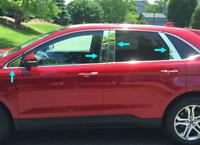 2015-2020 Ford Edge 8Pc Chrome Pillar Post w/Keypad Cutout Stainless Steel Trim