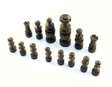 26x SPARE ANTIQUE WOODEN CHESS B&W PIECES - QUEEN/KING, BISHOP, ROOK, PAWNS
