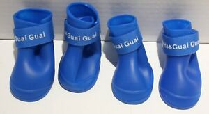 Ha Guai Guai Waterproof Silicone Dog Shoes Paw Protector SMALL BREEDS  3 Options