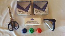 Creative Memories LOT Photo Splits BLUE SCISSORS Custom Cutting System BLADES +