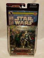Star Wars Comic Pack No 2 Governor Tarkin & Stormtrooper Figures Hasbro 2006