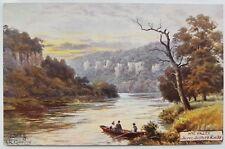 AR Quinton, Oilette, The Wye Valley, 7647, Seven Seven Sister's Rocks