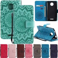 For Motorola Moto C E4 G4 G5 Plus Flip Card Holder Wallet Leather Case Cover