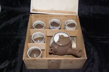 Chinese Yixing Glazed Handpainted Boxed Teaset Side Handle Teapot 5 Cups