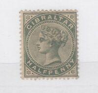 Gibraltar QV 1887 1/2d Green SG8 MH JK1277