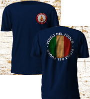 New Italia Vigili Del Fuoco Firefighter Fire Department Navy T Shirt S-3XL
