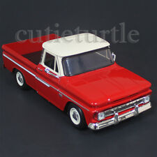 Motormax 1966 Chevrolet C10 Fleetside Pickup Truck 1:24 74355 Red with Cream Top