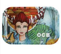 OCB®  Metal Rolling Tray  7.5  x  11  - Artist + FREE box rolling papers