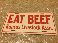 KANSAS COLLECTIBLE FARM TRUCK CAR HOT ROD FRONT EAT BEEF TAG OKLAHOMA TEXAS